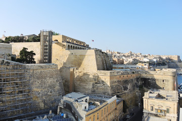 view of Valletta buildings, Malta