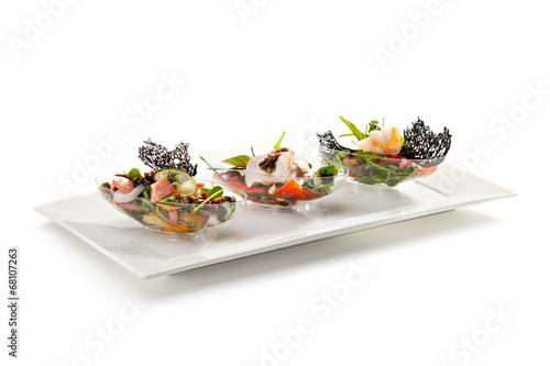 Leinwanddruck Bild Buffet Salad