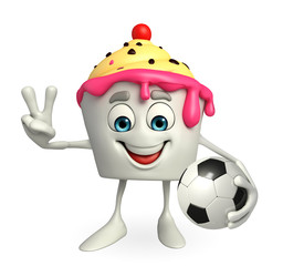 Ice Cream character with football