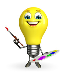Light Bulb Character with color plate