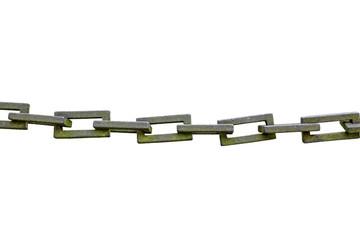 Rostige Eisenkette, freigestellt