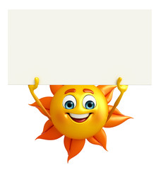 Sun Character With sign board