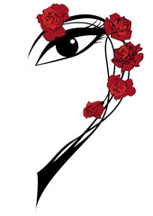 roses and eye