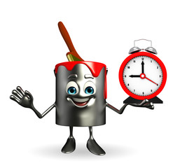 Paint Bucket Character with table clock