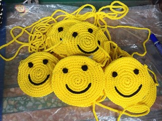 My smile knitting bag