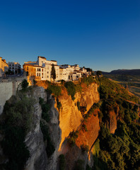 Magnificent view from the New Bridge of Ronda in Andalusia Spain