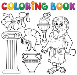 Coloring book Greek theme 1