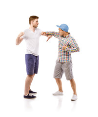 Young men fighting