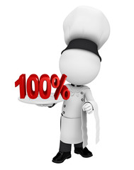 Chef with percent sign