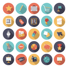 Flat design icons for business and finance