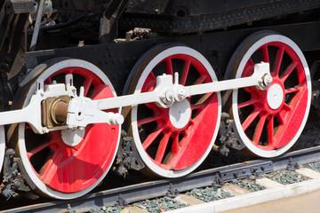 Old train wheel