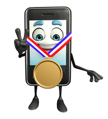 Mobile character with gold medal