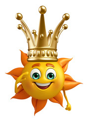 Sun Character With crown
