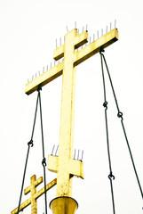 Golden orthodox crosses.