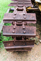 Old tractor wheel in Thailand