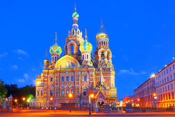 Russia, St. Petersburg. Cathedral Church of the Savior on Blood.