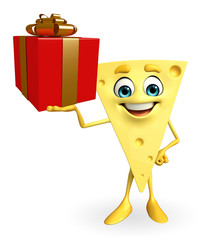 Cheese Character with gift box