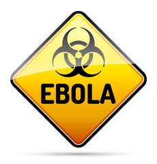 Ebola Biohazard virus danger sign with shadow - isolated