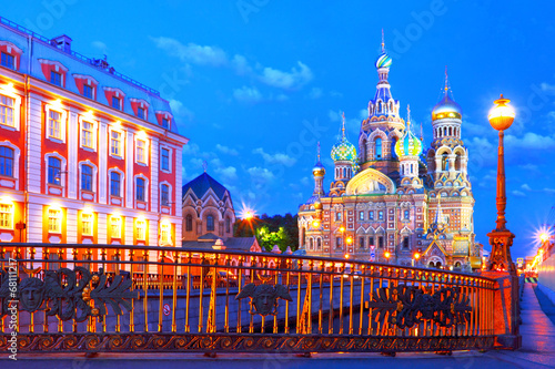 Fotobehang Oost Europa Russia, St. Petersburg. Cathedral Church of the Savior on Blood.