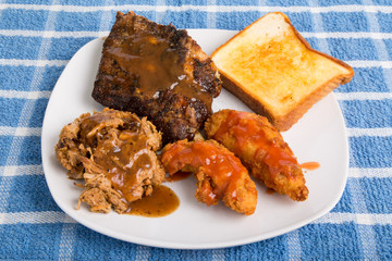 Barbecue Chicken Port and Ribs