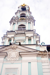 Old bell-tower in Trinity Sergius Lavra. UNESCO Heritage.