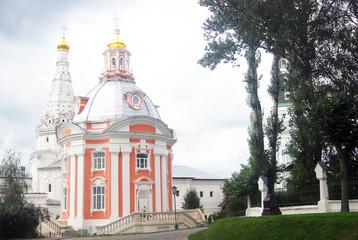 Old Churches in Trinity Sergius Lavra. UNESCO Heritage.