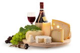 assorted cheese and red wine