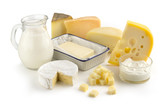 assortment of milk products poster