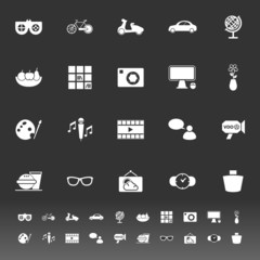 Favorite and like icons on gray background