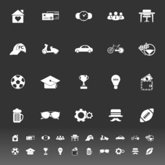 Normal gentleman icons on gray background
