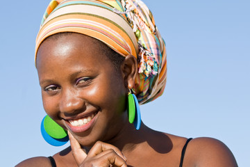 Confident attractive African woman.