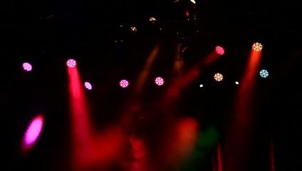 Stage lights shining.