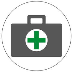 Medizinkoffer, grünes Kreuz