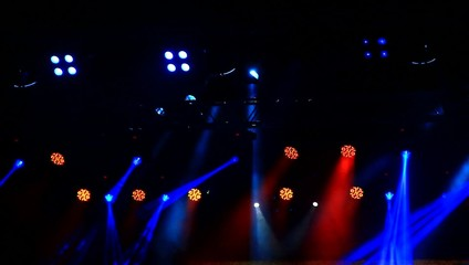Stage lights on the concert