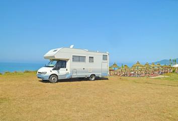 caravan - sea beach