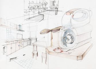 apartment kitchen and appliances