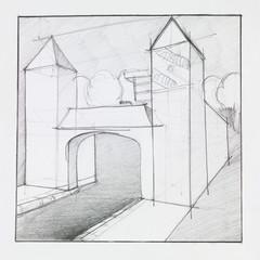arched gate entrance