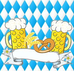 oktoberfest background with copy space