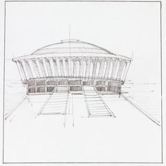modern pavillion building
