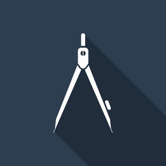 divider icon with long shadow