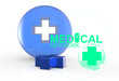 medical network sign 3d icon