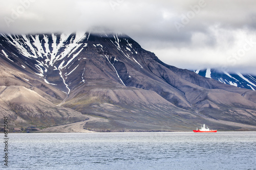 In de dag Antarctica 2 Beautiful scenic view of Spitsbergen (Svalbard island), Norway