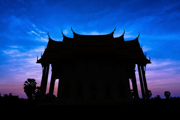 Old temple on twilight time
