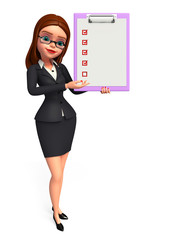 Young Business Woman with notepad