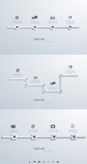vector timeline infographic set element design.