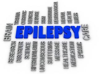 3d imagen, Epilepsy symbol. Neurological disorder icon conceptua