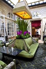 Luxurious lounge in a hotel