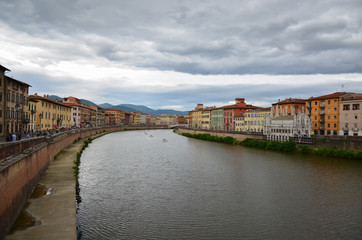 View of the medieval town of Pisa