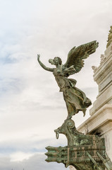 angel statue, National Monument to Victor Emmanuel II, Rome