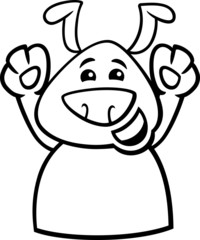 happy dog cartoon coloring page